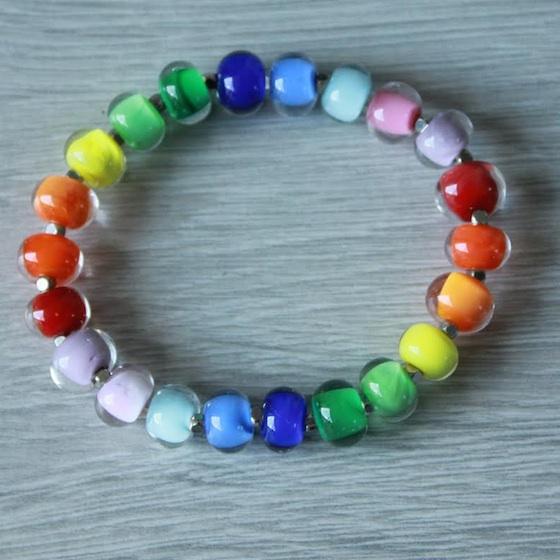 Bracelet multicolore création artisanale
