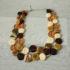 Collier ambre et ivoire en verre de Murano.