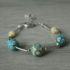 bracelet turquoise et ivoire en perles