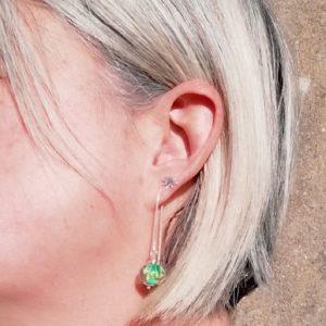 Boucles d'oreilles chaînette