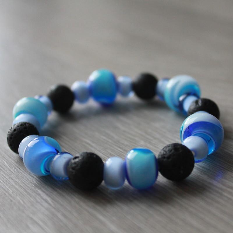 perles de verre de pierre de lave