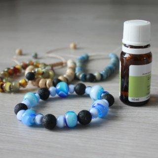 Bracelets de perles de verre et de pierre de lave de Fuerteventura