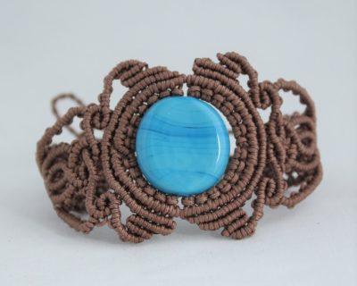 Bracelet mini macramé et perles turquoises