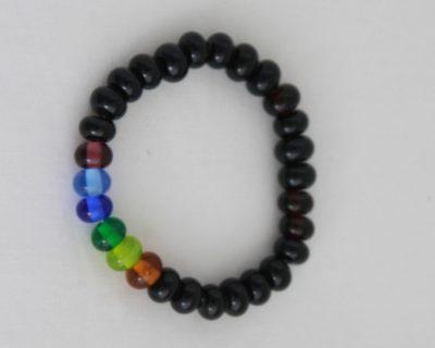 Bracelet arc-en-ciel et noir