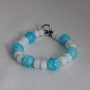 Bracelet turquoise et blanc
