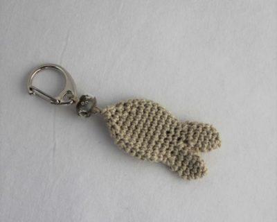 Porte-clés poisson beige
